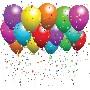 birthday balloons stars