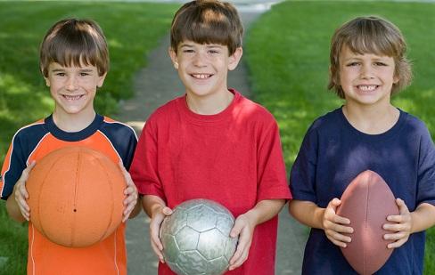 boys with balls