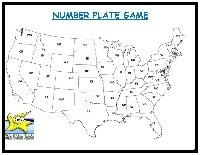 license number plate travel game